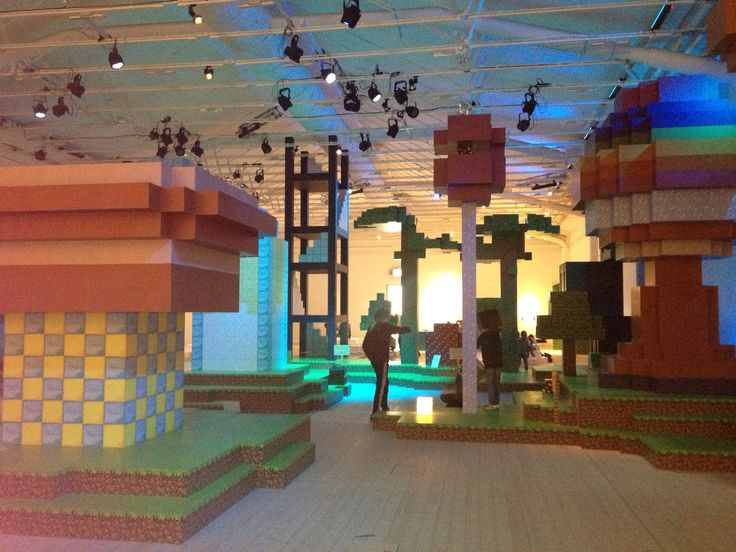 Minecraft på riktigt, Arkitektmuseumet i Stockholm