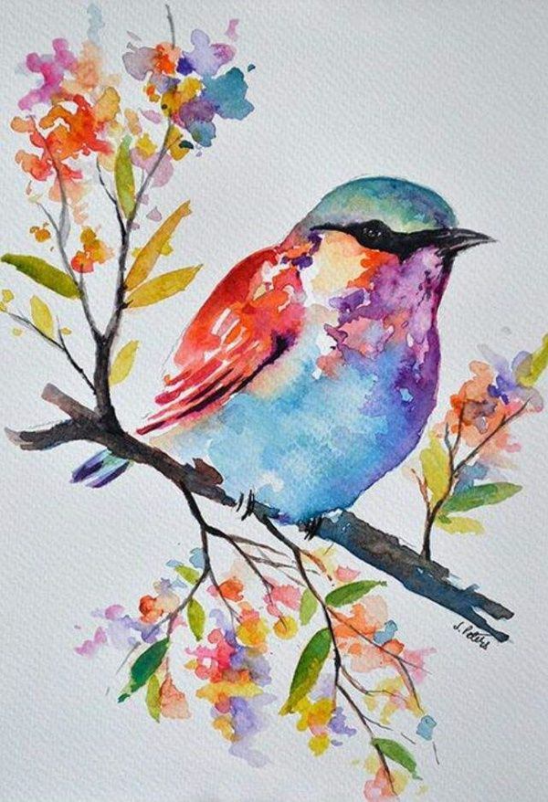 42 Simple Watercolor Painting Ideas For Beginners Bird