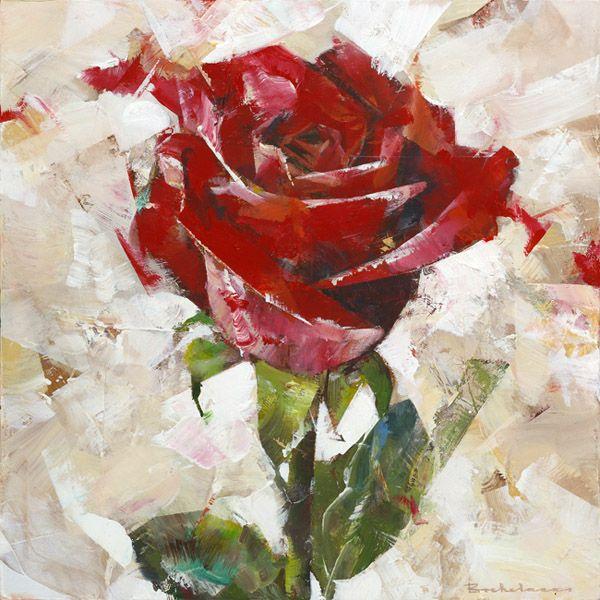 'Rose', acrylic on panel, Dorus Brekelmans 2016