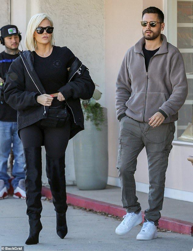 Khloe Kardashian films KUWTK during lunch with Scott Disick