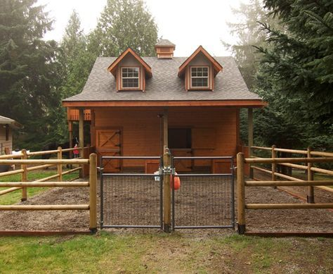 Very cute gable horse barn with paddock horse barn and for Horse barn designs