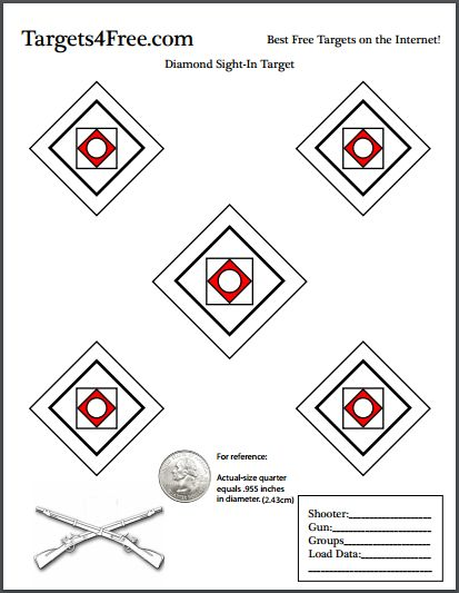 60 best free printable shooting targets images on pinterest