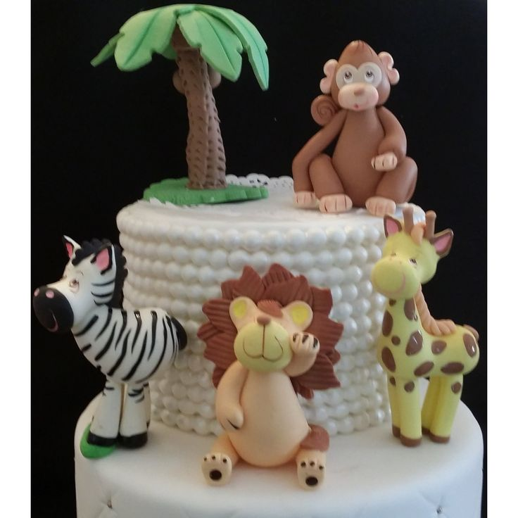 Jungle Party, Jungle Animal Set, Jungle Baby Shower, Elephant, Lion Cake Topper, Safari Baby Shower, Jungle Animal Decoration, Jungle Safari