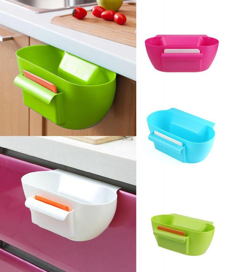 [Visit to Buy] Home Kitchen Cabinet Trash Storage Box Organizers Garbage Holder Portable Kitchen Storage Box #74823 #Advertisement