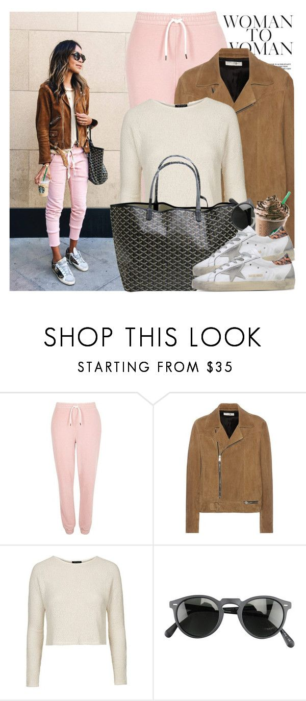 """""""2517. Blogger Style: Sincerely, Jules"""" by chocolatepumma ❤ liked on Polyvore featuring River Island, Yves Saint Laurent, Topshop, Goyard, Oliver Peoples, Golden Goose, casual, BloggerStyle, lazy and comfy"""
