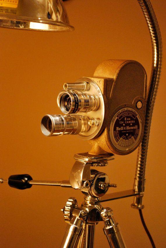 Vintage Bell and Howell 8mm movie camera Desk light