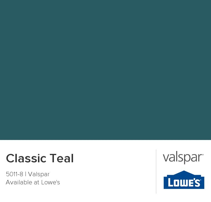 GET SAMPLE Classic Teal from Valspar BEDROOM