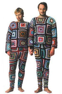 LOL Granny Square Crocheted Pyjama's....heavens