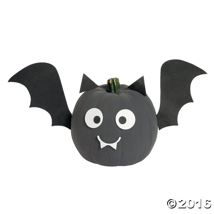 Kids will go batty for this jack-o'-lantern decorating kit. Give pumpkin decorating a whole new look with these adorable make adorable Mini Bat Pumpkin ...