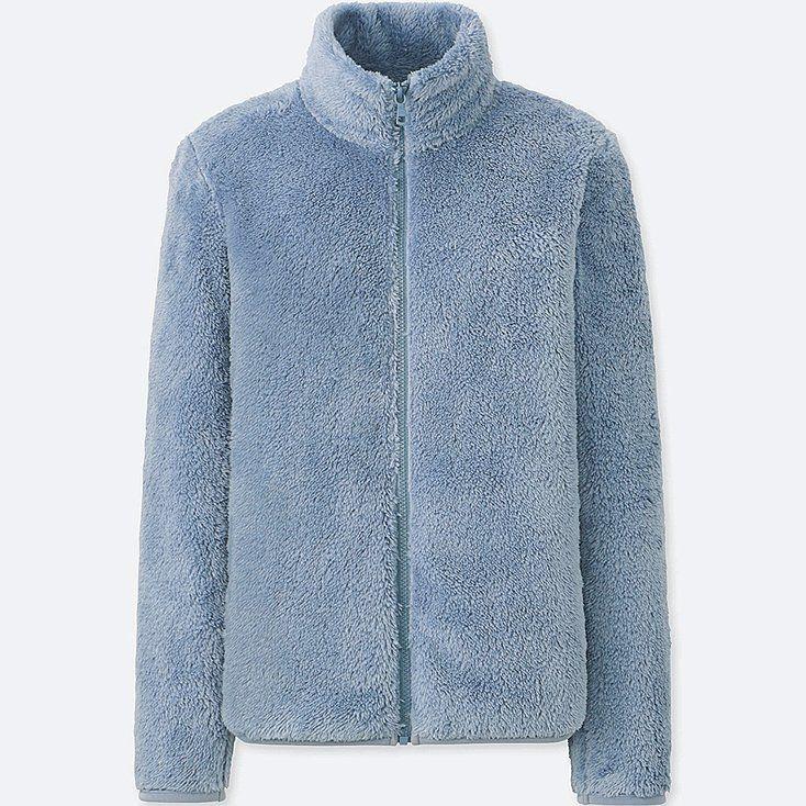 Pandapang Womens Pullover High Collar Plush Casual Thicken Puffy Sweatshirts