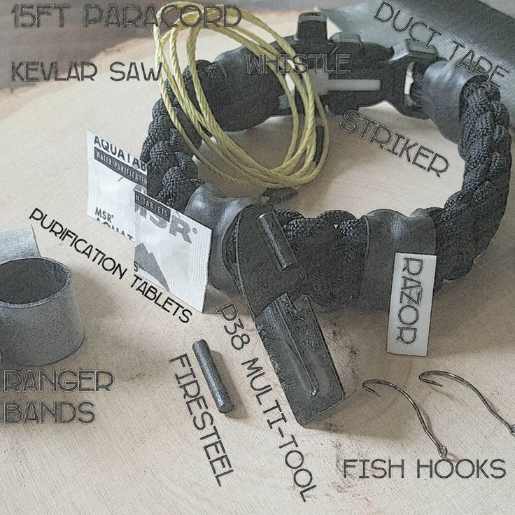 The Scout Slimline Survival Strap: Parcord Bracelet with Whistle, Fire Steel, Knife Blade. Upgrade for p38 Can Opener, Kevlar Saw, Fish Kit. by SuperesseParacord on Etsy https://www.etsy.com/listing/244737340/the-scout-slimline-survival-strap