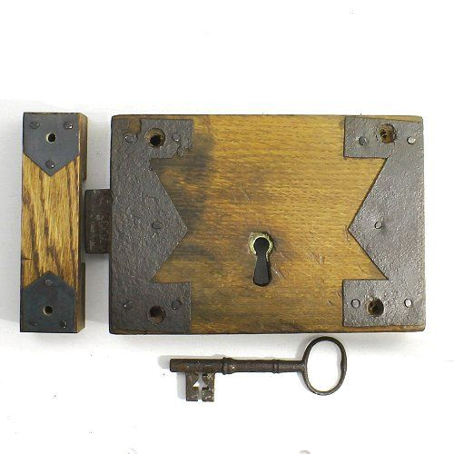 A Very Old Antique Wooden Door Lock. Despite Itu0027s Obvious Age This Lock Is  In