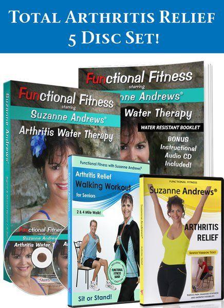 Arthritis Relief 5 Disc Deluxe Workout DVD Set