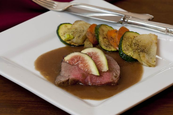 Spiced lamb with an Arabica fig sauce.
