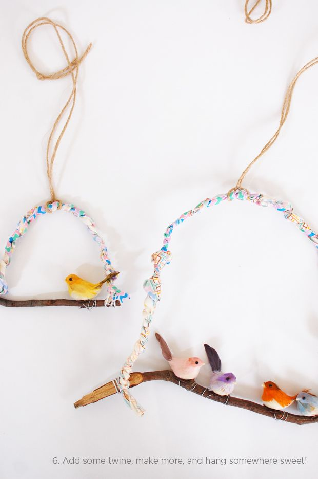 Make sweet bird hangings