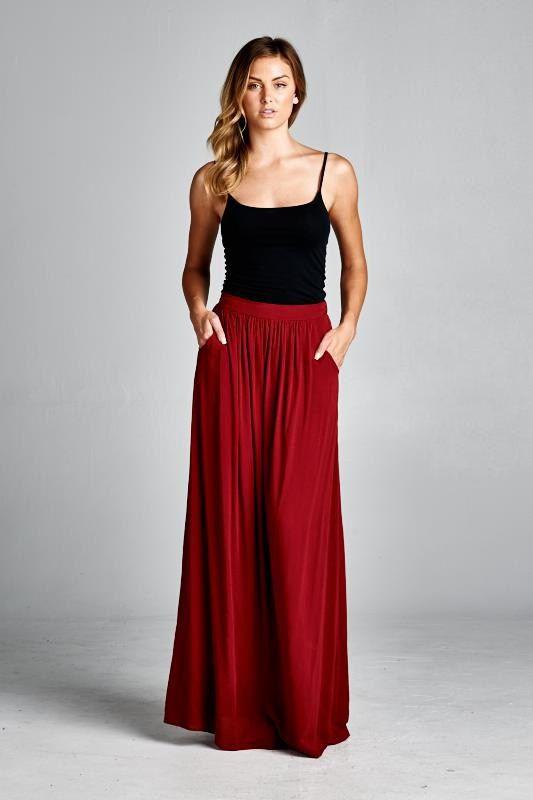 Taylor Skirt in Pomegranate- Emma Stine Ltd