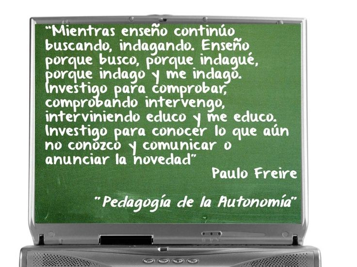 Paulo Freire ~ Contar con TIC