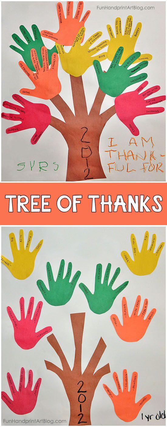 Handprint Gratitude Tree of Thanks Craft for Kids