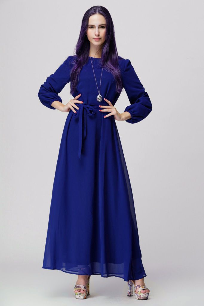 Hot Women Kaftan Abaya Jilbab Islamic Muslim Bow Long Sleeve Vintage Maxi Dress | eBay