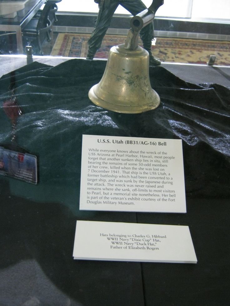 Bell from the USS Utah, sunk in Pearl Harbor December 7, 1941.