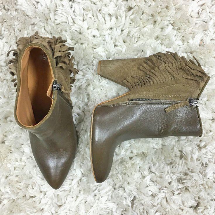 Zara Fringe Bootie Size 38 $80