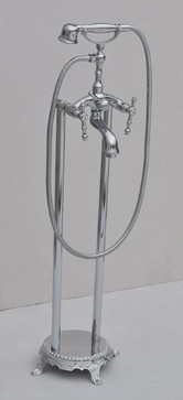 Freestand Floor Mounted Clawfoot Bathtub Faucet - contemporary - bathtubs - - by sinofaucet
