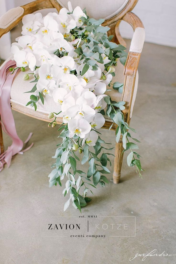 Best Bouquet Ever! Bridal bouquet with orchids, white, green, flowers, pink ribbon bouquet. wedding flowers, bride must have, best bride ever, royal wedding.