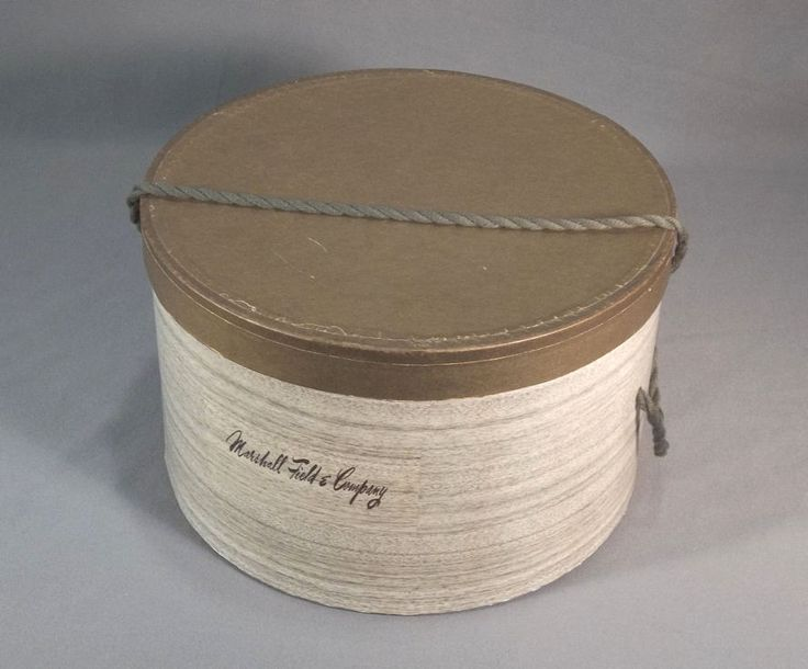Antique Hat Boxes | ... Marshall Field Vintage Hat Box from thegoldenhanger on Ruby Lane