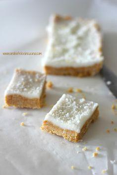 Arabafelice in cucina!: Barrette al cocco, limone e latte condensato (senza cottura)