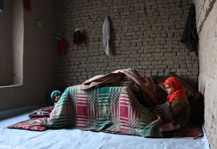 Children displaced by drought in Afghanistan's northern Balkh province now live in homes without water or electricity on the outskirts of the provincial capital, Mazar-i-Sharif