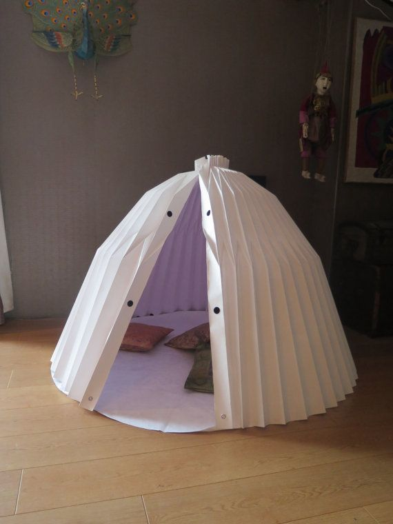 Portable Collapsing Shelter : Origami playhouse play tents shelters and newborn gifts
