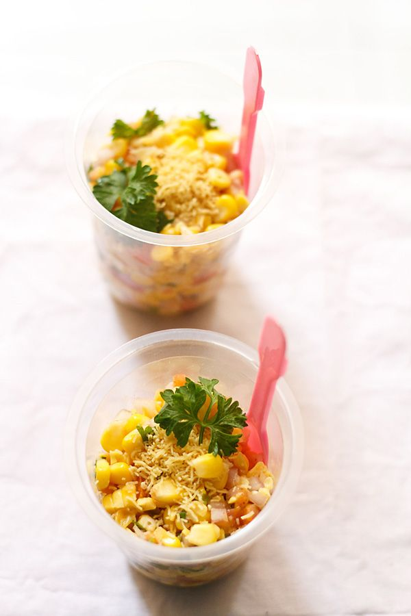 corn chaat or masala corn – a delectable spiced and tangy snack made with sweet corn.