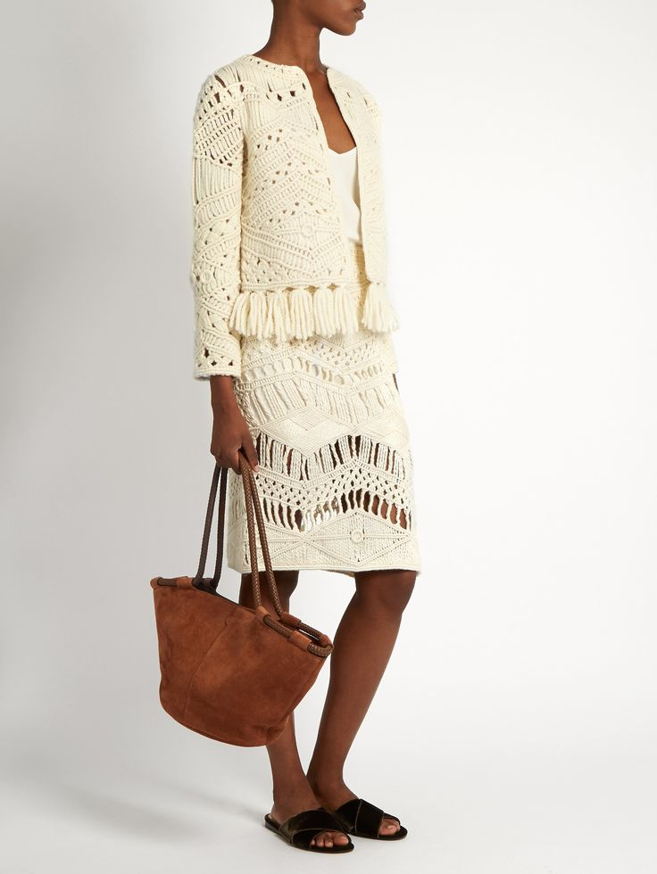 Tuva hand-macramé silk and wool-blend skirt | Tabula Rasa | MATCHESFASHION.COM