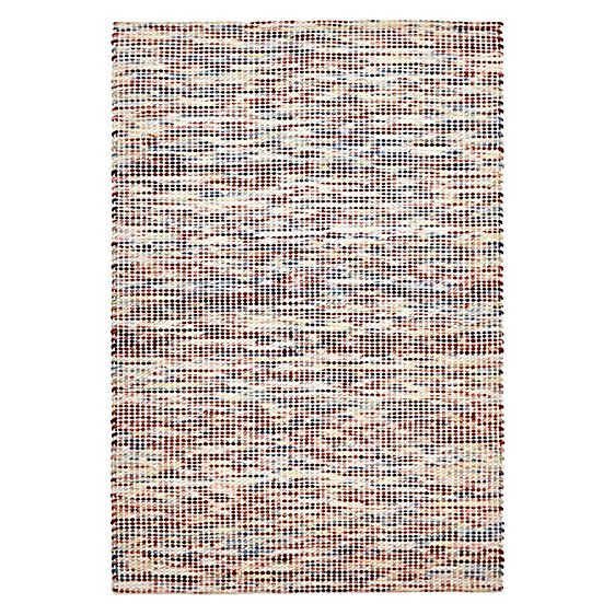 Amalia Chunky Weave Wool Rug, Multicolour by Rug Culture