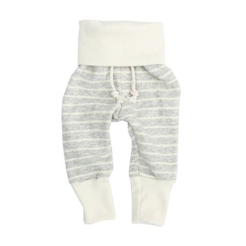 skinny sweats in soft gray stripe