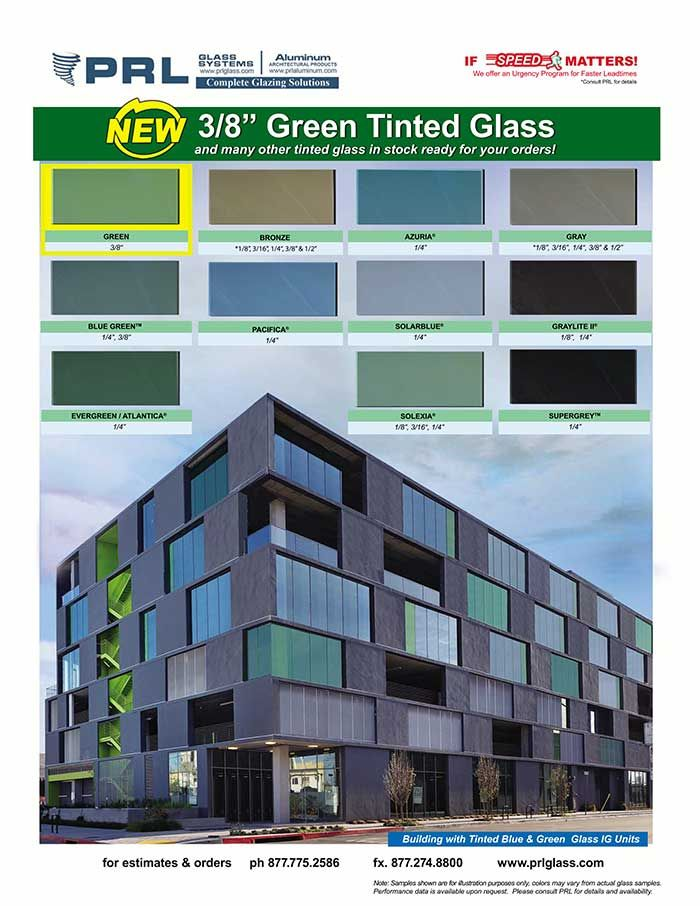 In Addition To Our Large Inventory Of Tinted Glass Prl Now Stocks A New 3 8 Green Tinted Glass Green Glass Reduces Green Glass Architecture Solar Heat Gain