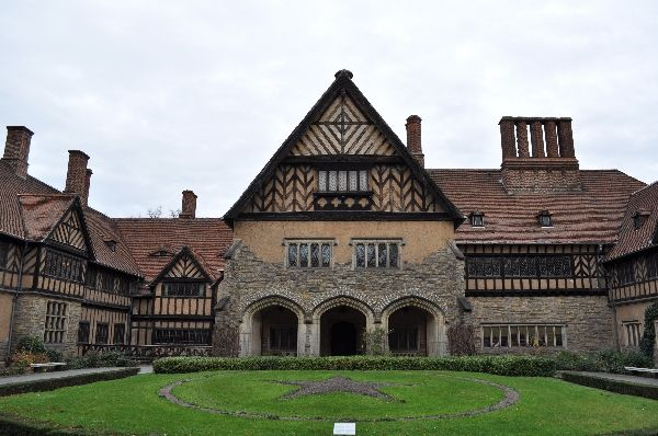 "POTSDAM (GERMANY): ""Schloss Cecilienhof"" (Cecilienhof Palace), built in the ""Neuer Garten"" (New Garden) from 1914-1917, was the last royal contribution to Potsdam's cultural landscape. The 180-room English country house-style palace was the setting for the 1945 Potsdam Conference."