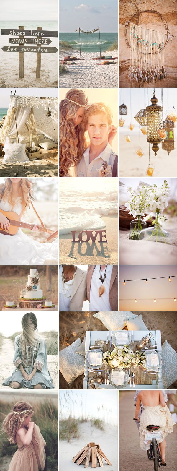 Boho Chic Beach Wedding Inspiration by Pixel & Ink Wedding Blog via WedShare.com