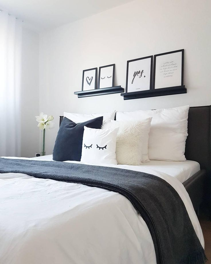 Die besten 25+ Schlafzimmer schwarz weiß Ideen auf Pinterest - schlafzimmer schwarz wei