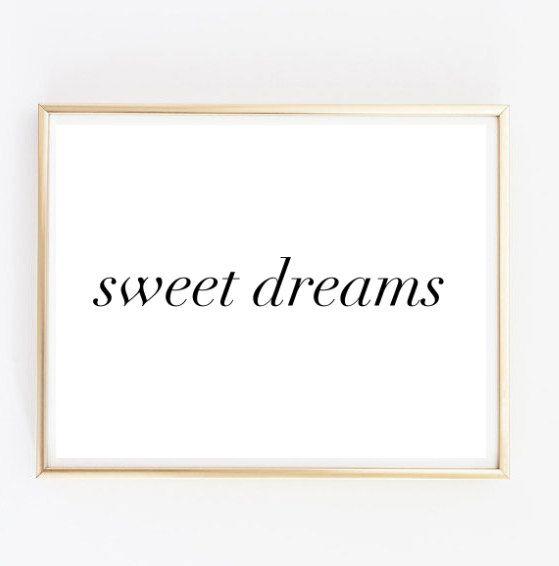 Süße Träume Tumblr Pintrest Zitat typografische von AngiesPrints