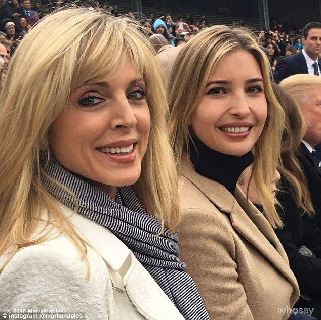 Cordial: While Marla is clearly a fan of Ivanka's, Donald's eldest daughter admitted that she is not close with her half-sister Tiffany's mother. The two are pictured at Tiffany's college graduation in May