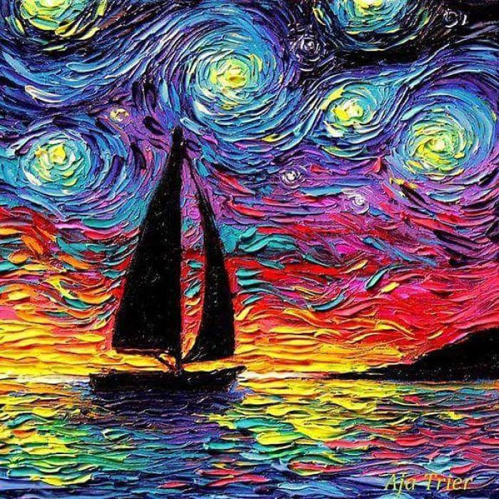 Starry Night Vincent Van Gogh Museum Art Print 10x8