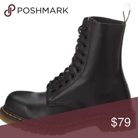 DR.MARTEN 1919 STEEL TOE BOOT Fully broken in Dr.Martens, very comfortable and lighter than expected for a steel toe boot. Women's Size: 9 Men's Size: 7 Dr. Martens Shoes Combat & Moto Boots