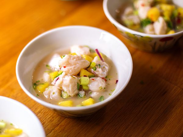 Het ceviche med torsk och pilgrimsmussla | Recept.nu