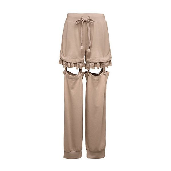 Suspenders Pants ($300) ❤ liked on Polyvore featuring pants