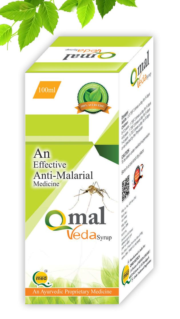 Qmal Veda Syrup - Effective Anti malarial Ayurvedic Medicine Acute & Chronic fever and malaria including plasmodium vivax and plasmodium falciparum