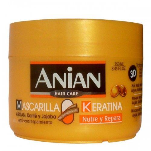 Masca Anian hranitoare, reparatoare si anti-incretire imbogatita cu keratina reparatoare si uleiuri hranitoare de argan, shea si jojoba.