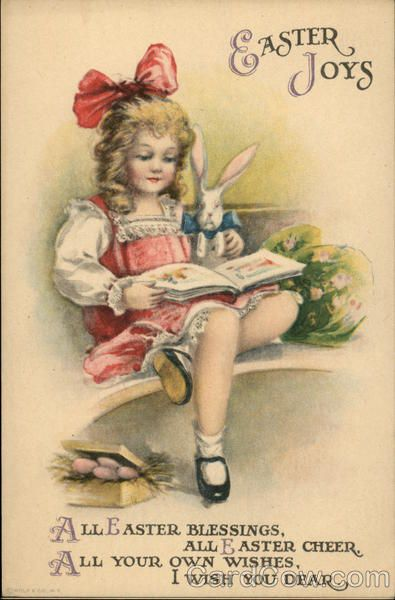 Easter Joys Ellen Clapsaddle With Children