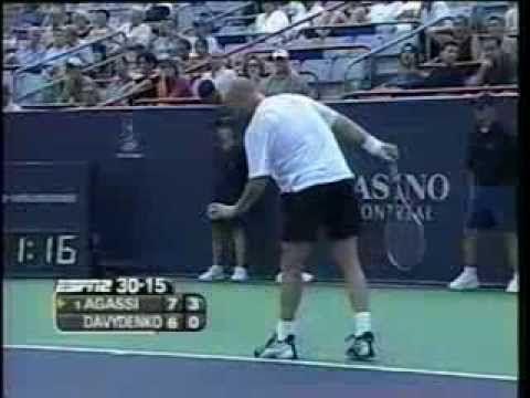 ▶ Davydenko vs Agassi Montreal 2003 - YouTube