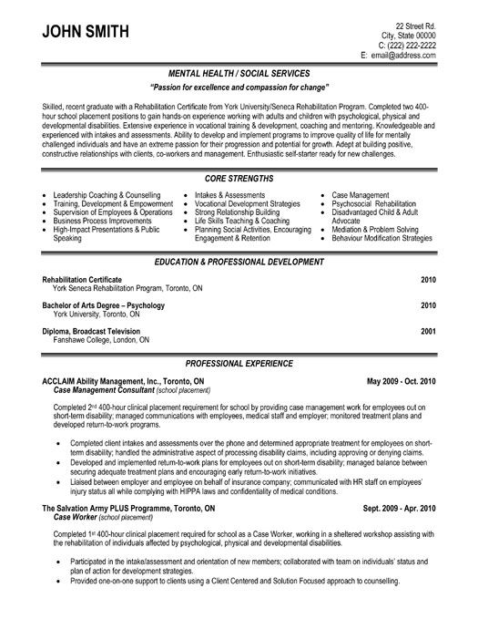 a professional resume template for a case management consultant want it download it now